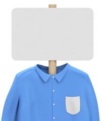shirt and whiteboard