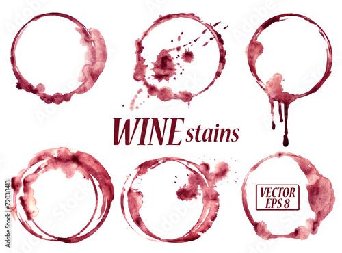 Akwarela plamy wina ikony