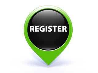 register pointer button on white background