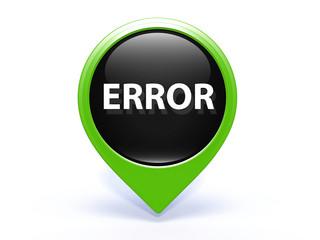 error pointer icon on white background