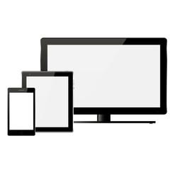 vector TV, phone, tablet
