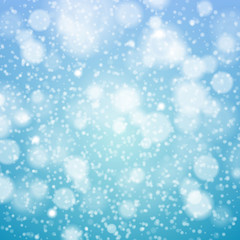 Christmas snowflakes blurred  background.  Vector illustration.