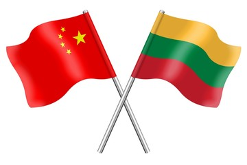 Flags: China and Lithuania