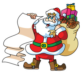 Santa Claus Carrying The Gift