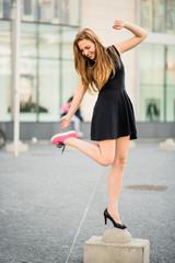 Shoe dilemma - sneakers versus high heels
