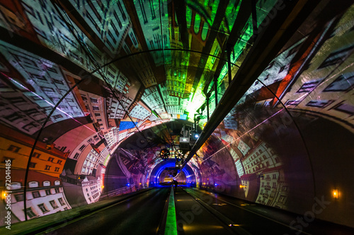 Aluminium Tunnel Tunnel Modes Doux de la Croix-Rousse