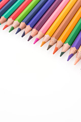 Colorful pencil isolated on white background