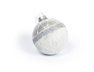 White glass Christmas ball