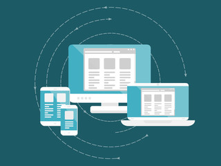 Responsive and scalable web design concept