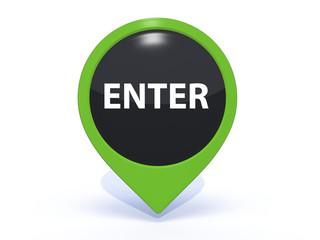 enter pointer icon on white background