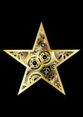 steampunk christmas star