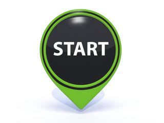 start pointer icon on white background