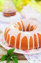 Bundt Cake Topped with Sugar Glaze