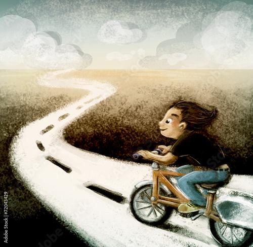 niño en bicicleta © cirodelia