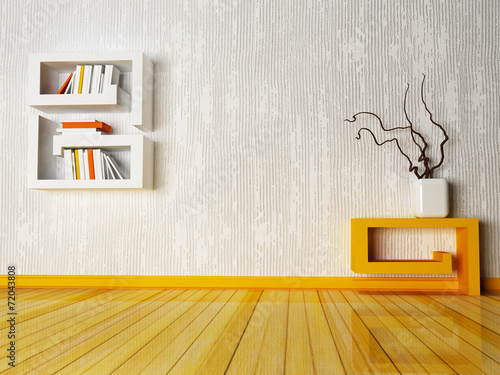 canvas print picture a creative table and a shelf