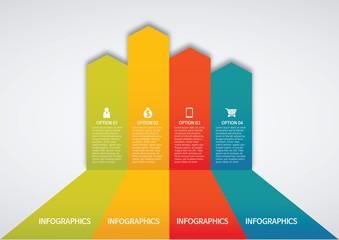 info graphics - colorful graph, arrow