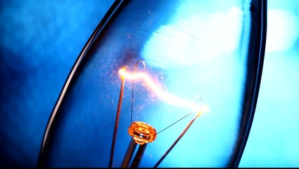 Close up of a Tungsten bulb
