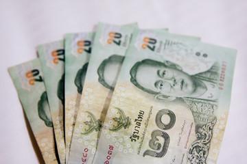 Twenty baht THAI banknote