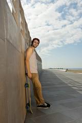 Skateboarder on a Boulevard