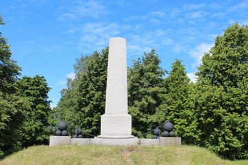 Monument to the Russian wars, 1710. Vyborg city.