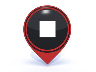 stop pointer icon on white background