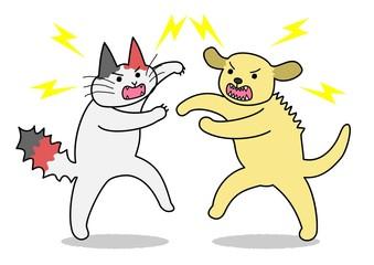犬と猫 けんか