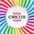 Magic circus show poster, background