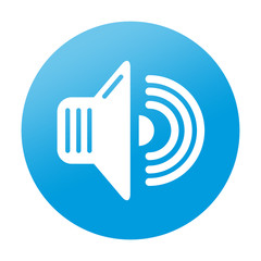 Etiqueta tipo app redonda sonido