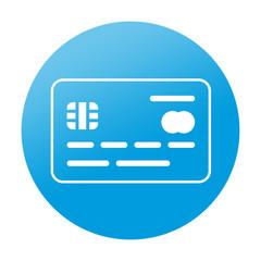 Etiqueta tipo app redonda tarjeta de credito