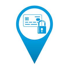 Icono localizacion tarjeta segura