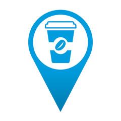 Icono localizacion vaso de cafe