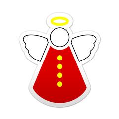 Pegatina simbolo angel de navidad