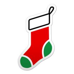Pegatina simbolo calcetin de navidad