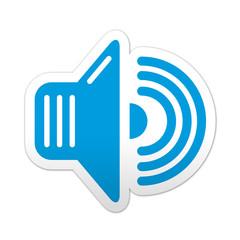 Pegatina simbolo sonido