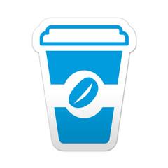 Pegatina simbolo vaso de cafe