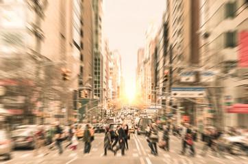 People on the street in Manhattan - New York City