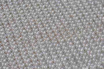 Салфетка самодельная, сплетенная в технике макраме
