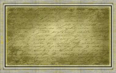Leinwand antik mit Schrift