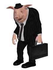 businessman pig