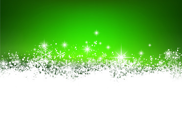 Christmas green abstract background.