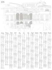 2015 calendar with an italian villa