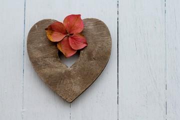 Autumn Hydrangea Heart