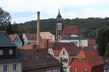 Blick auf Königstein in der Sächs. Schweiz