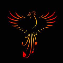 phoenix schreit gelb rot