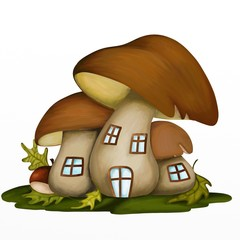 house in the fungus