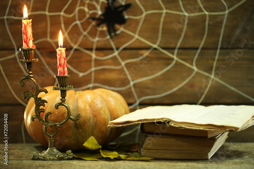 canvas print picture Halloween decoration with spider