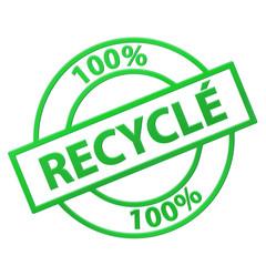 """Tampon """"100% Recyclé"""" (vert)"""