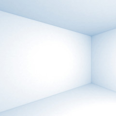 Empty white 3d room interior square background
