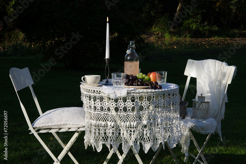 in the evening - shabby reception backyards - 72056697