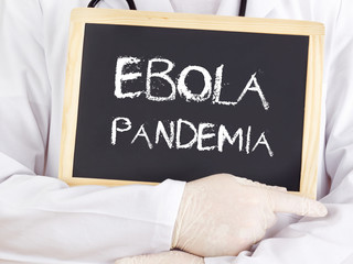 Doctor shows information: Ebola pandemia